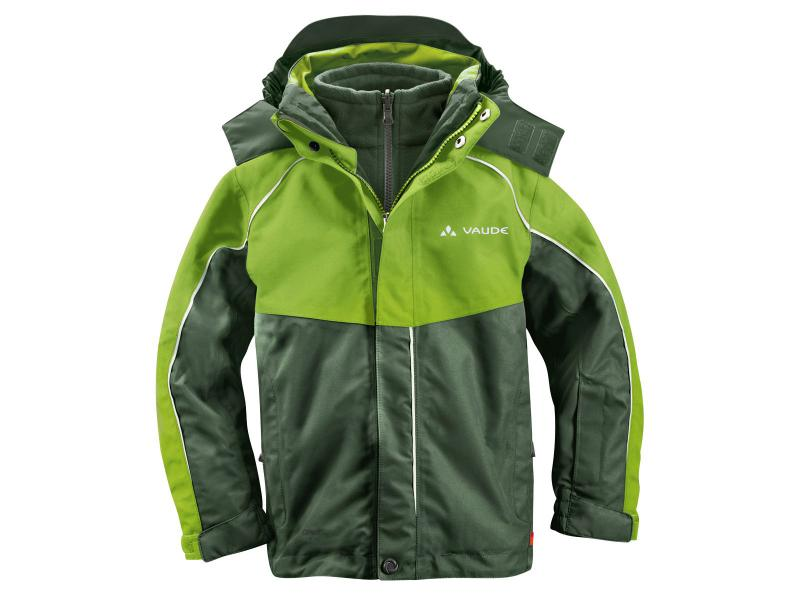 Dětská bunda Vaude KIDS LITTLE CHAMPION 3in1 Jacket II 01309444 - thyme