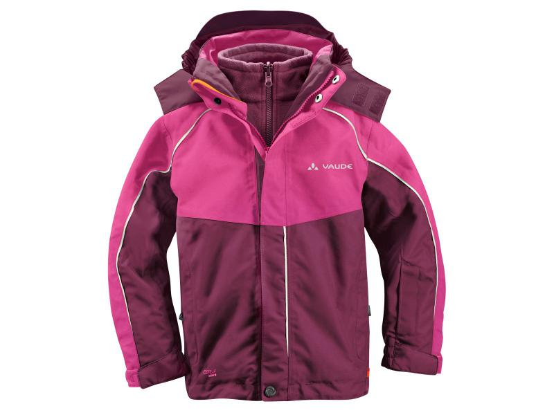 Dětská bunda Vaude KIDS LITTLE CHAMPION 3in1 Jacket II 01309796 - purpure